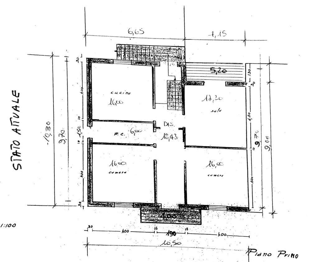 Planimetria 1/4 per rif. 7886-02