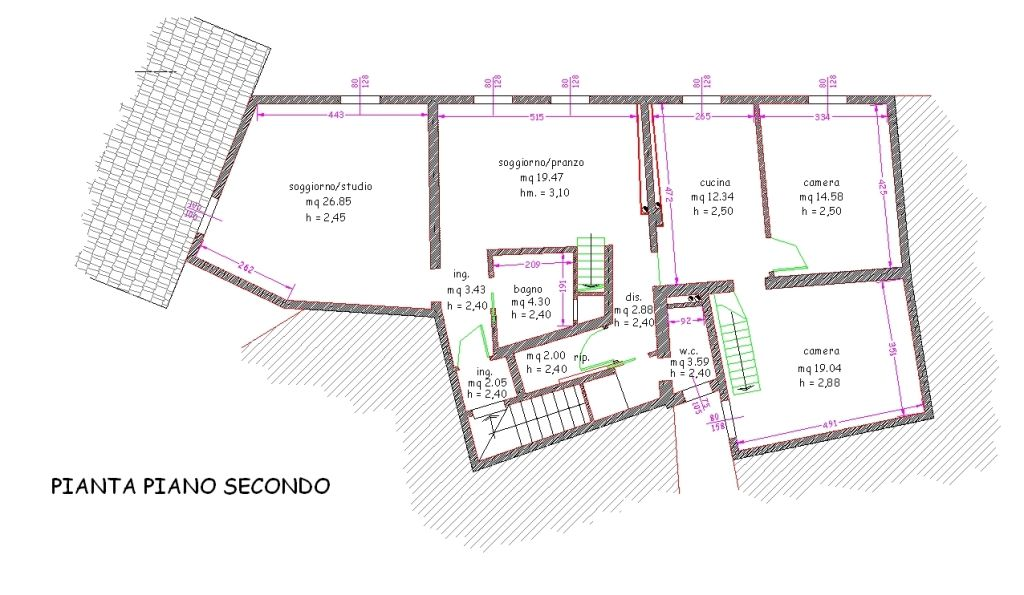 Planimetria 1/2 per rif. 8872
