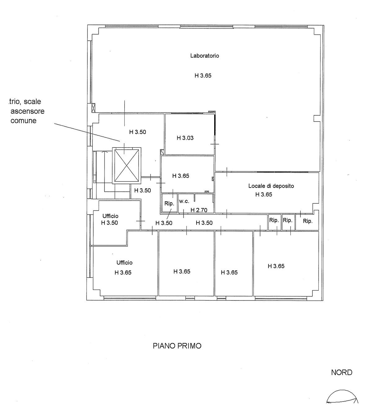 Planimetria 3/4 per rif. 595