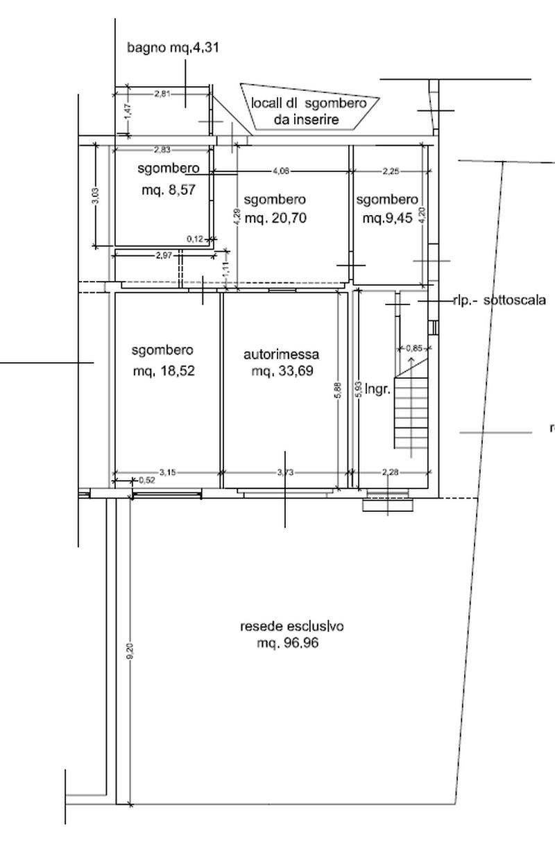 Planimetria 1/2 per rif. 8875
