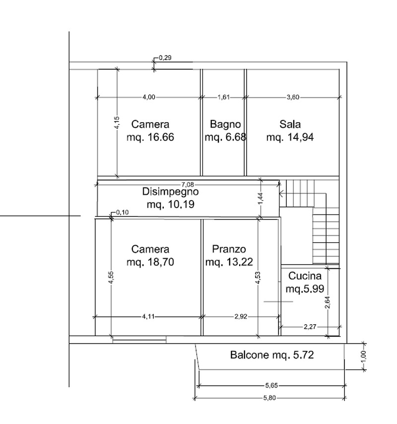 Planimetria 2/2 per rif. 8875