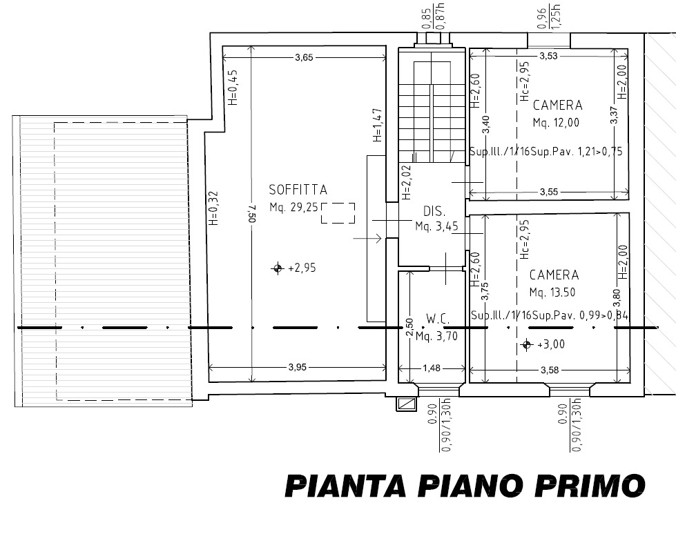 Planimetria 3/7 per rif. 8870