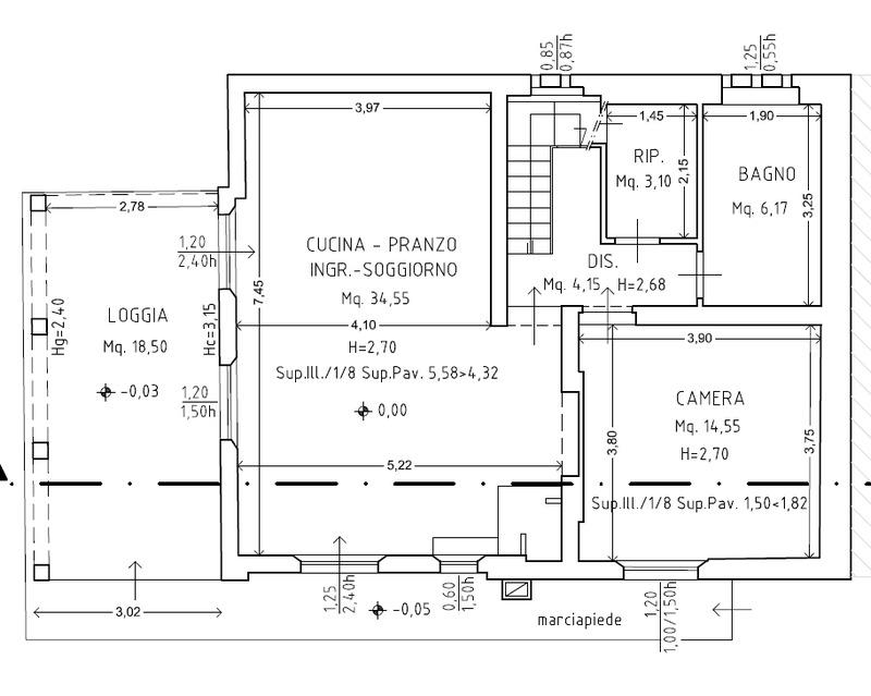 Planimetria 2/7 per rif. 8870