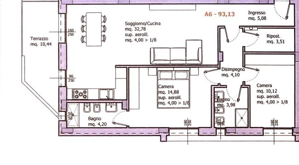 Planimetria 1/1 per rif. 8649