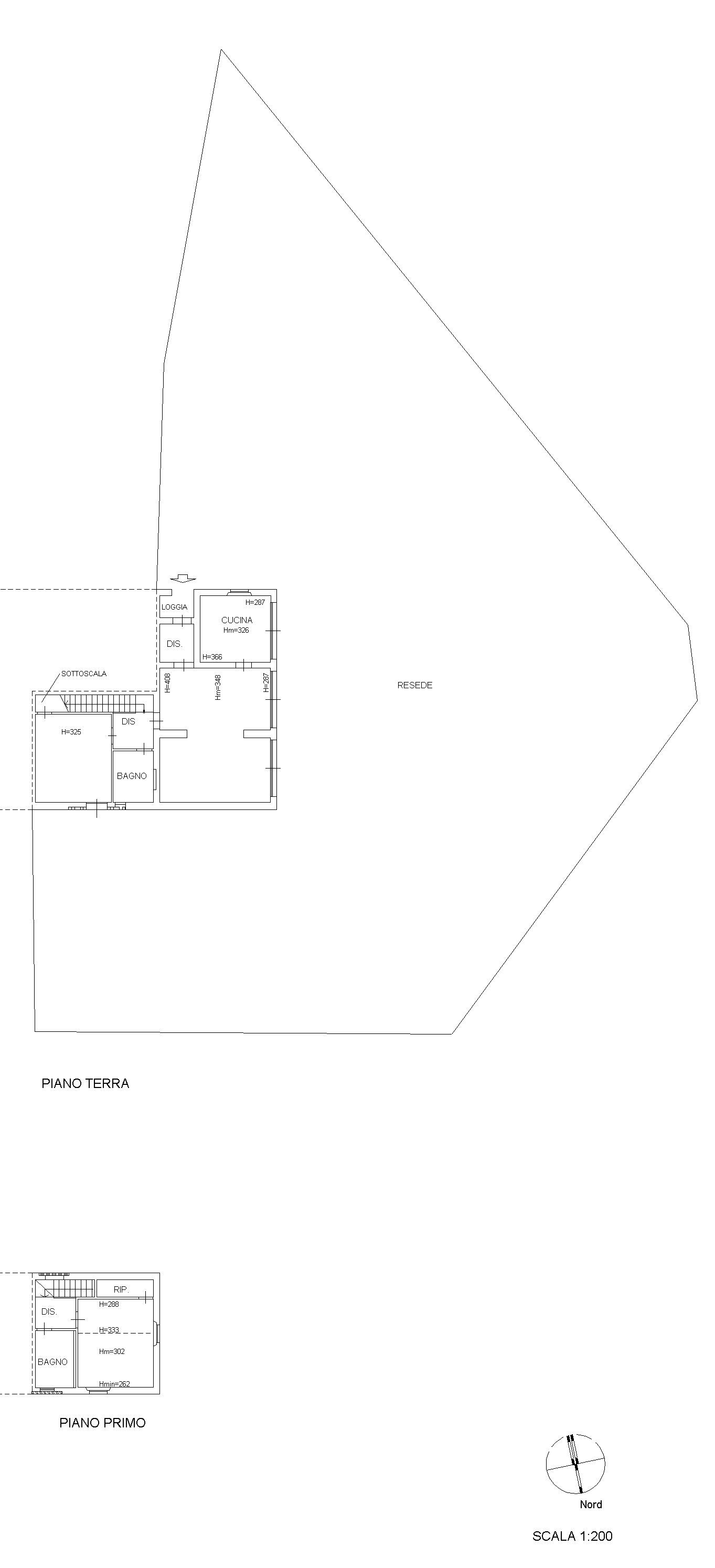 Planimetria 1/2 per rif. 8885