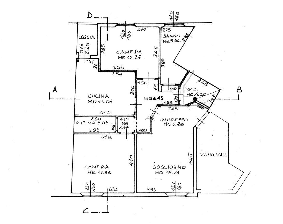 Planimetria 1/2 per rif. 8909
