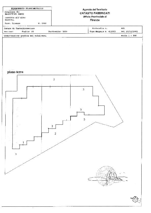 Planimetria 1/1 per rif. 527