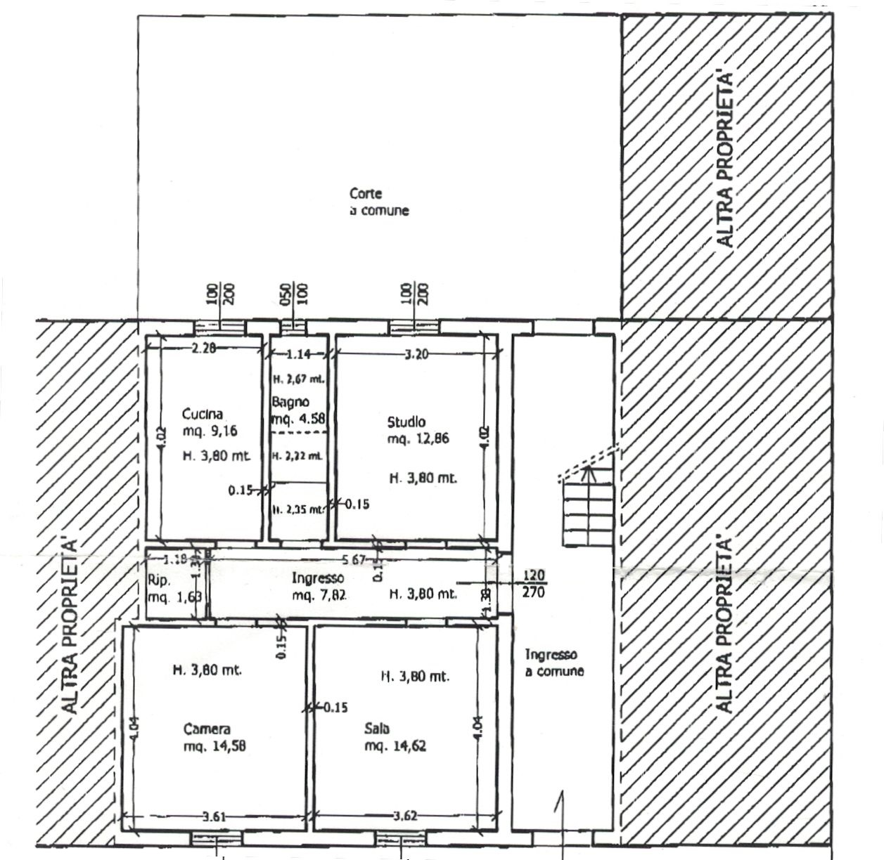 Planimetria 1/2 per rif. 8981