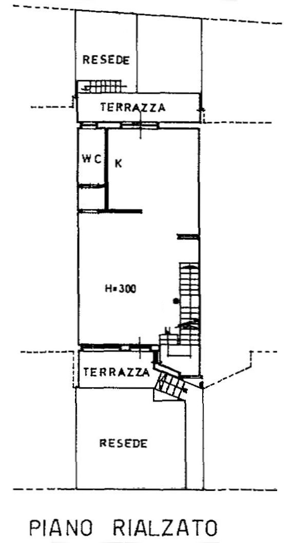 Planimetria 3/4 per rif. 8939