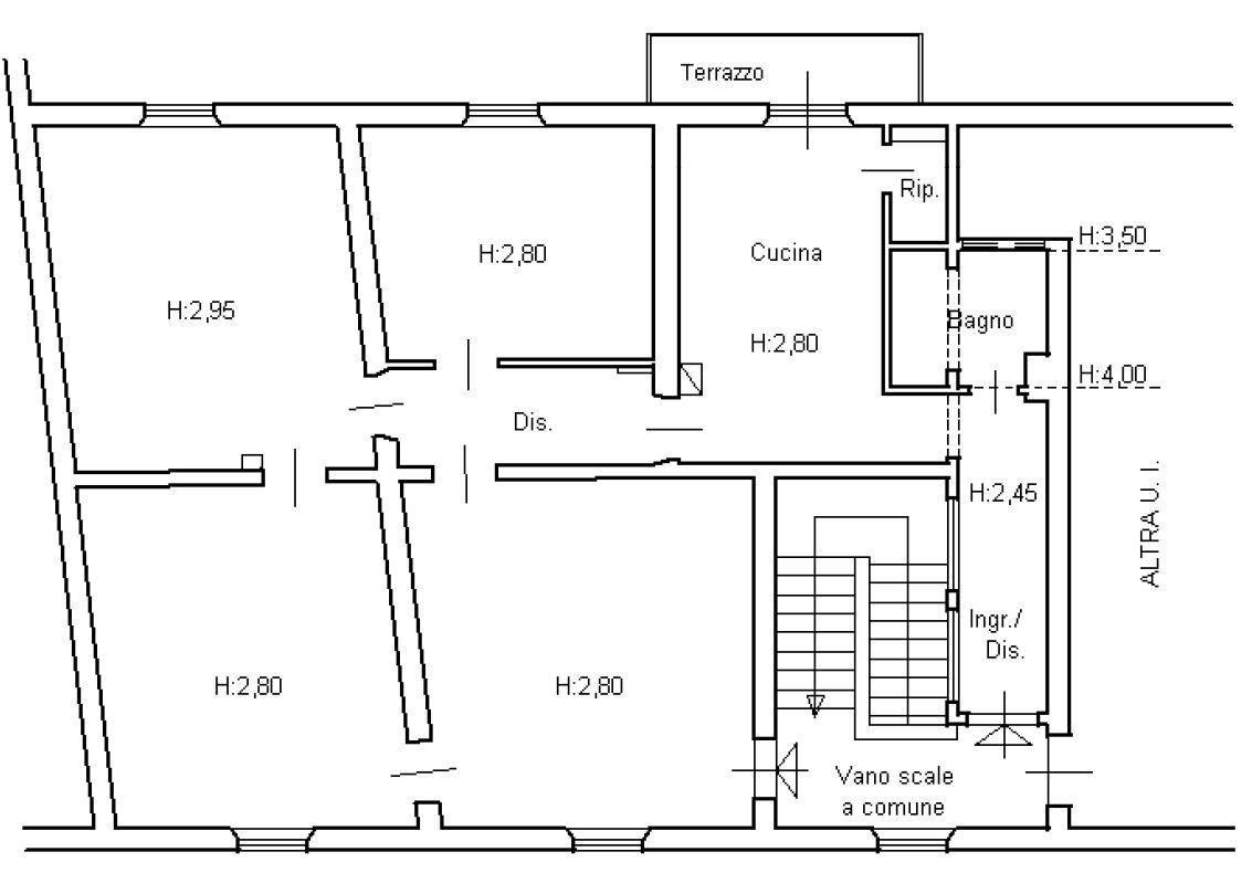 Planimetria 1/2 per rif. 8627
