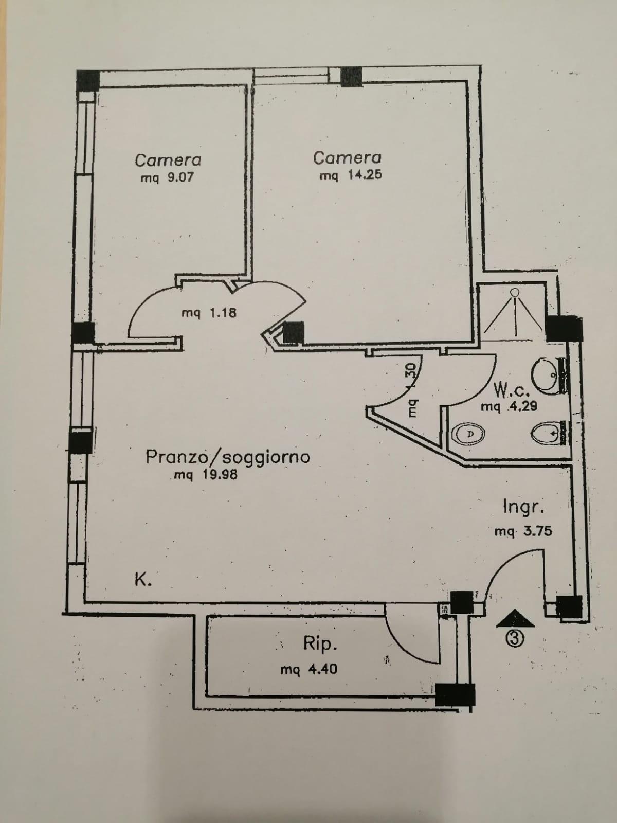 Planimetria 1/2 per rif. 8964