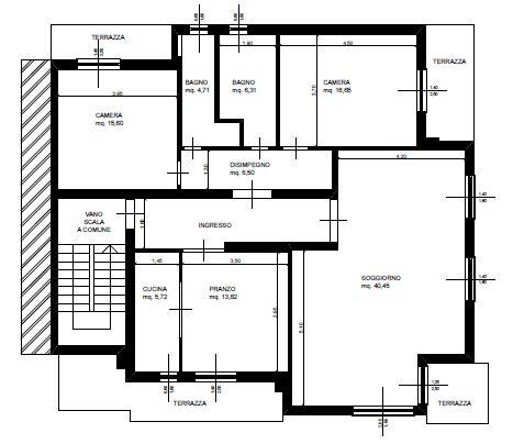 Planimetria 1/2 per rif. 8956-02