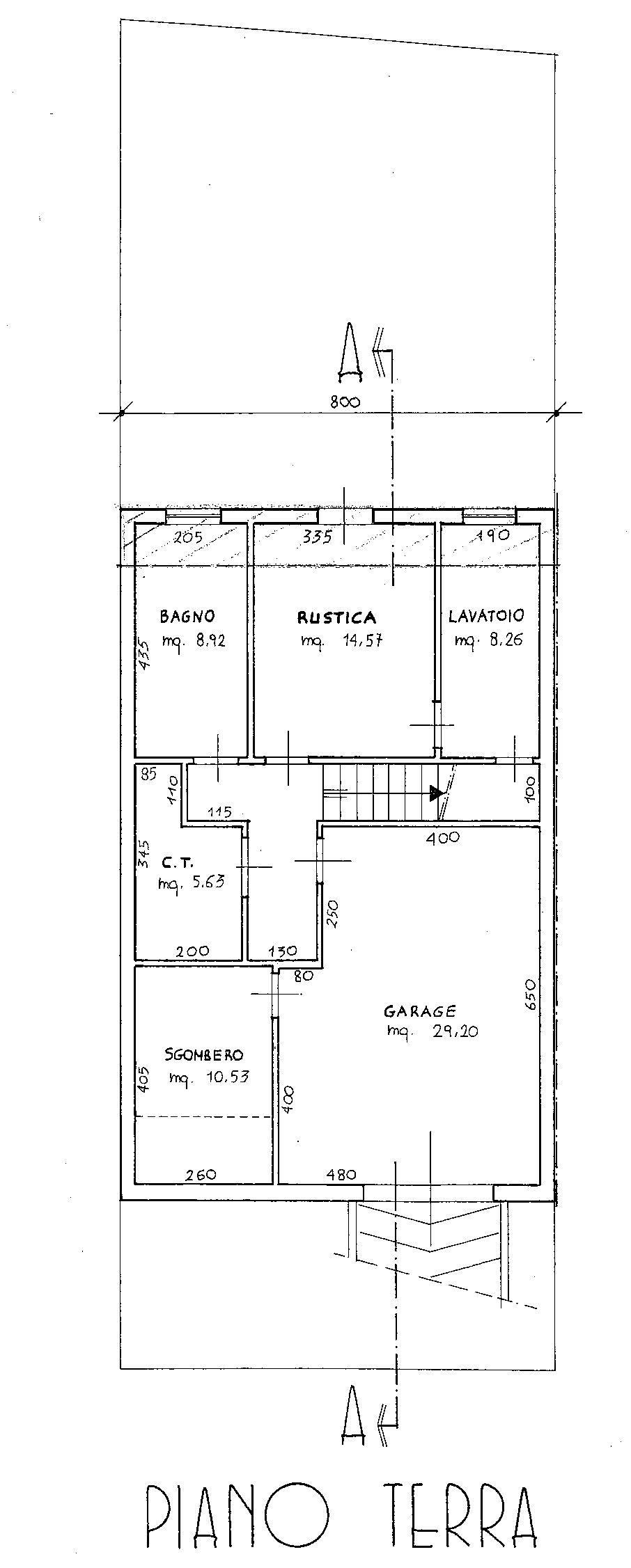 Planimetria 1/5 per rif. 8966