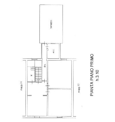 Planimetria 2/3 per rif. 8970
