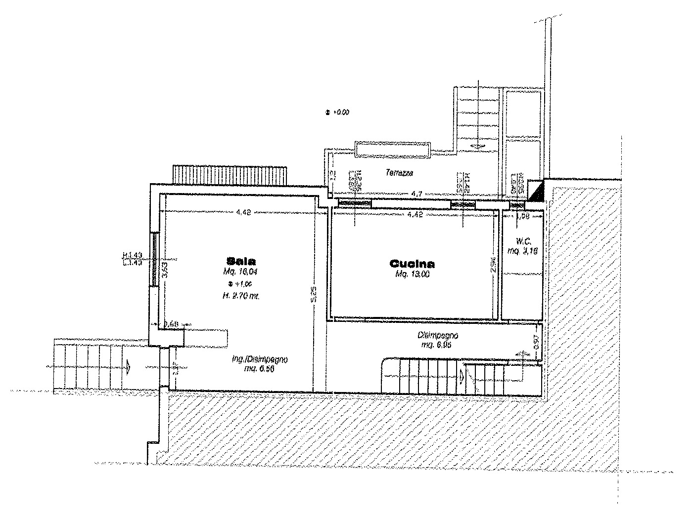 Planimetria 1/4 per rif. 8980