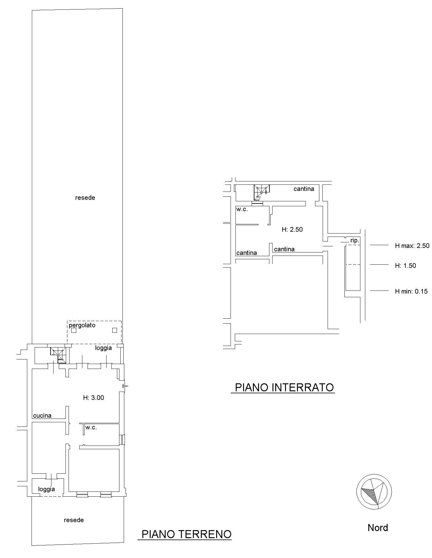 Planimetria 1/3 per rif. 8965