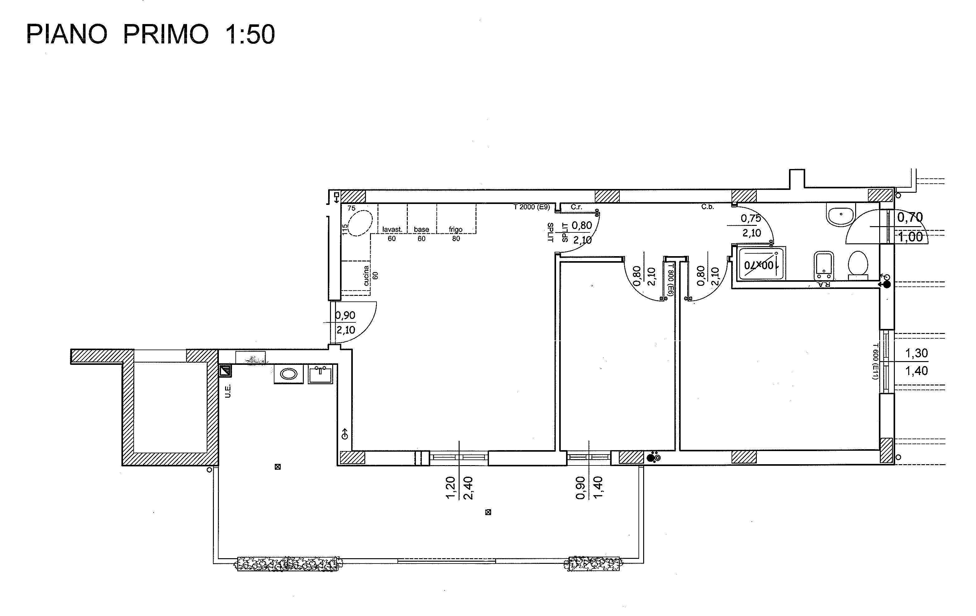 Planimetria 1/3 per rif. 7152