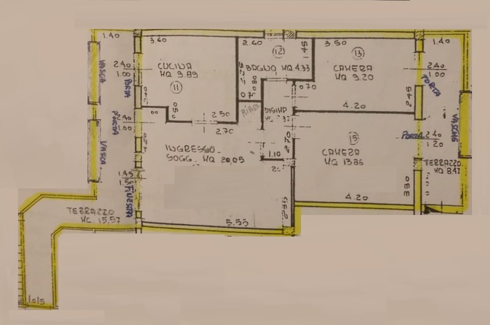 Planimetria 1/3 per rif. 8982