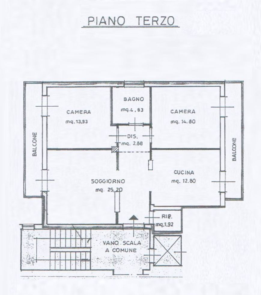 Planimetria 1/2 per rif. 8095-02