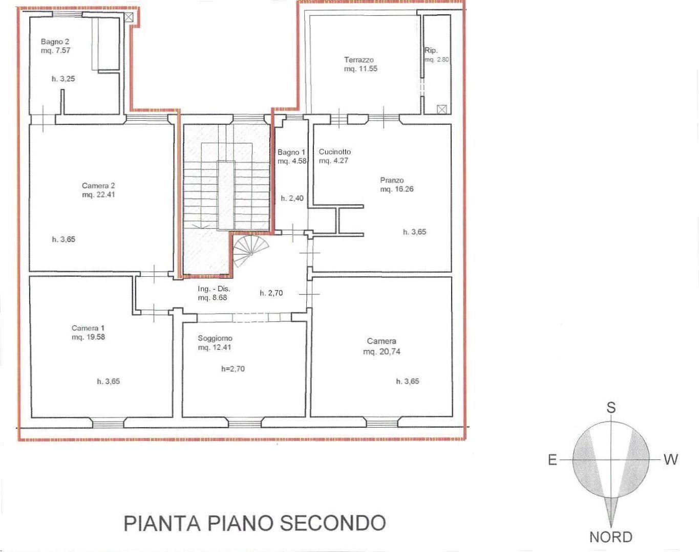 Planimetria 1/2 per rif. 8990