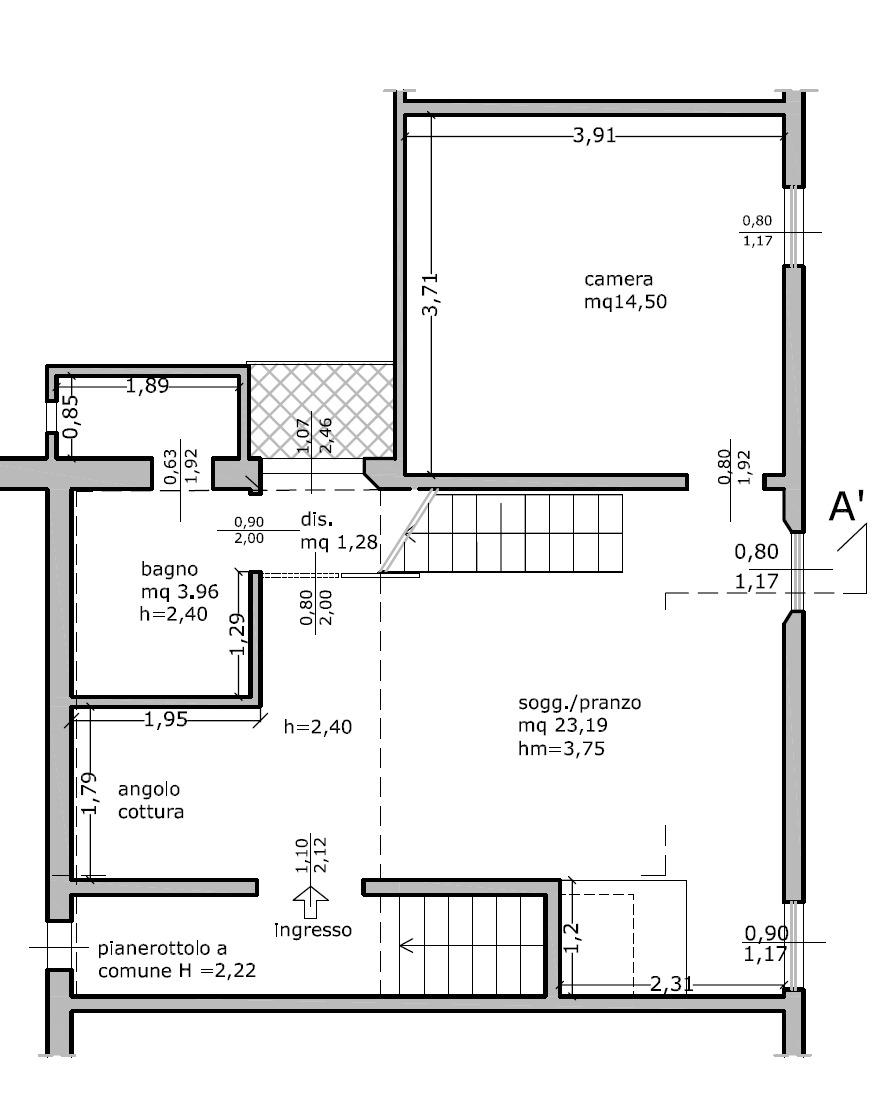 Planimetria 1/2 per rif. 8996