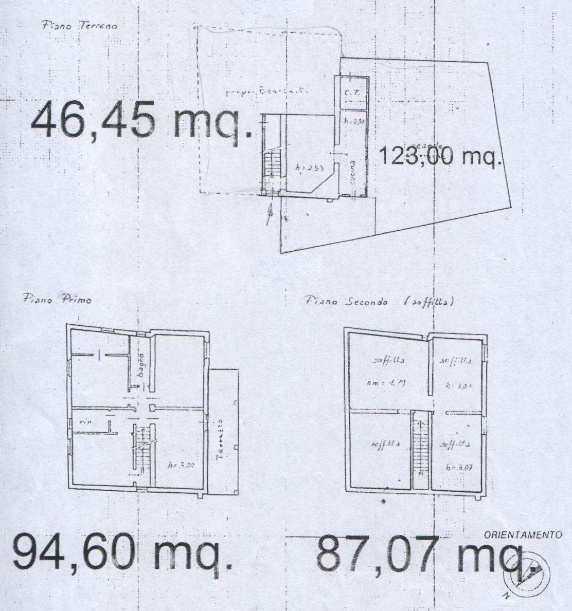 Planimetria 1/4 per rif. 8125-02