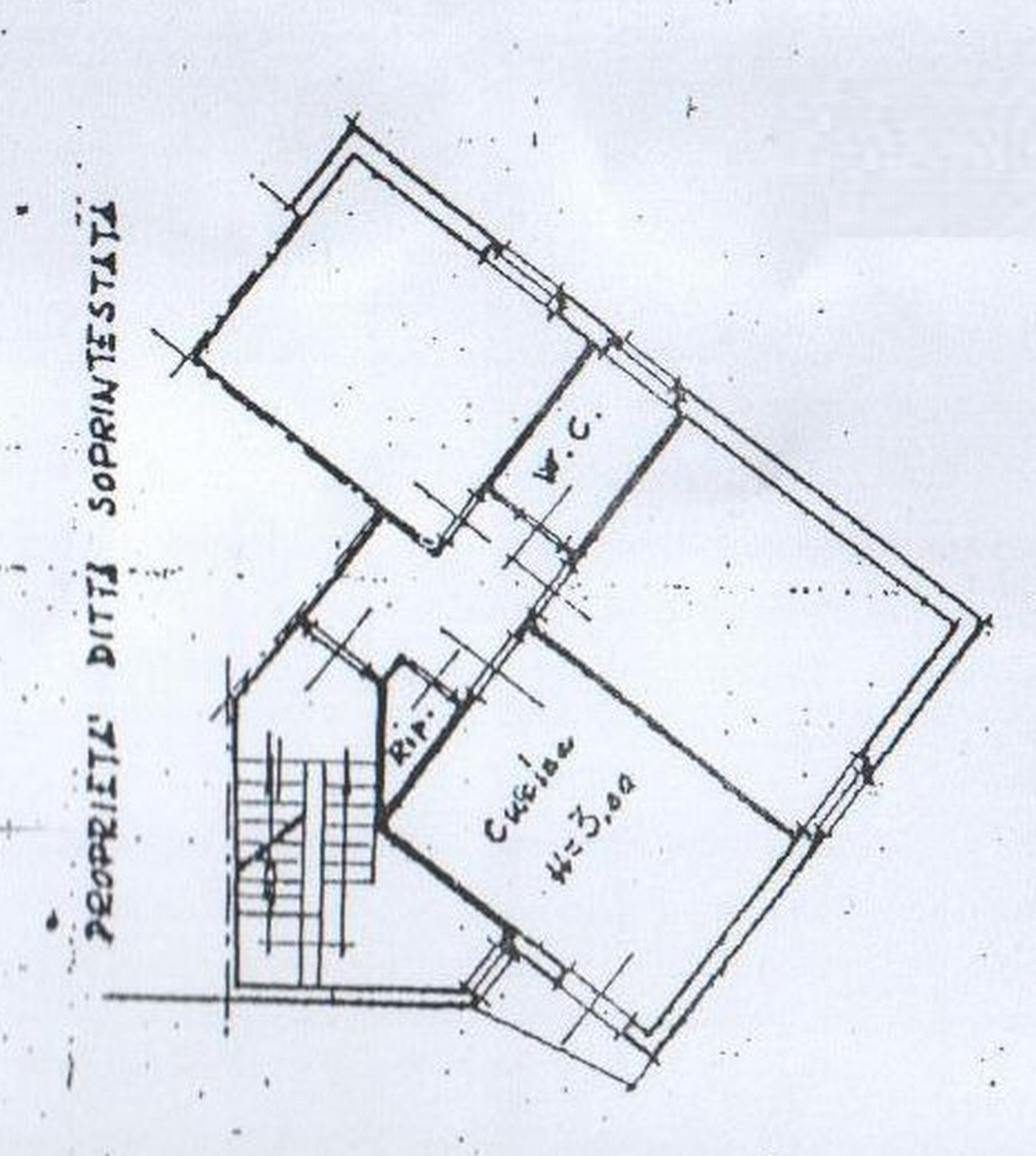 Planimetria 1/2 per rif. 7578