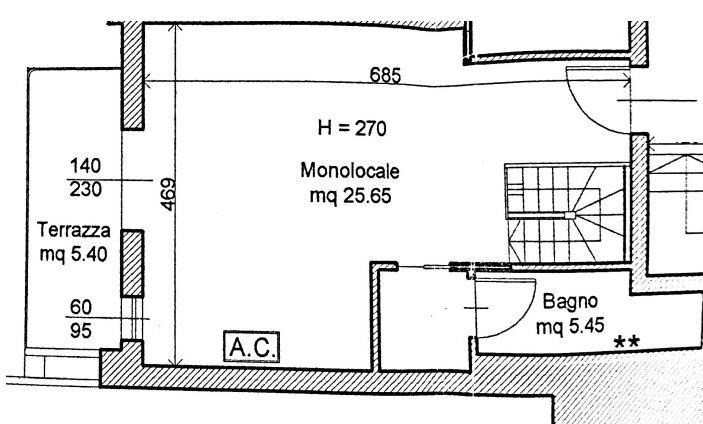 Planimetria 1/3 per rif. 8462-02