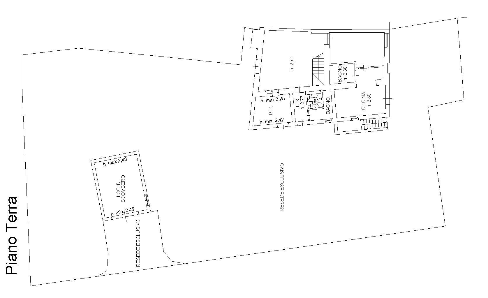 Planimetria 1/4 per rif. 9041