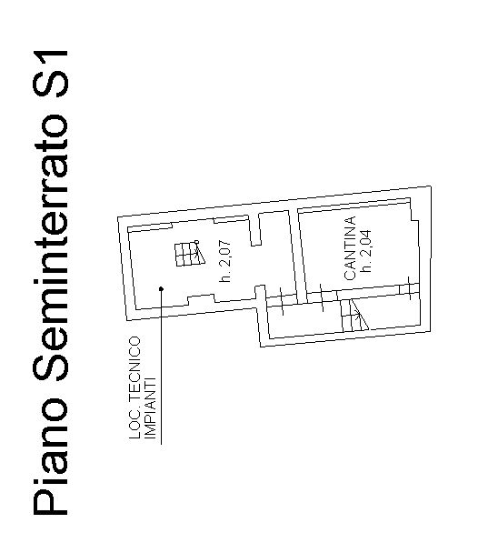 Planimetria 3/4 per rif. 9041