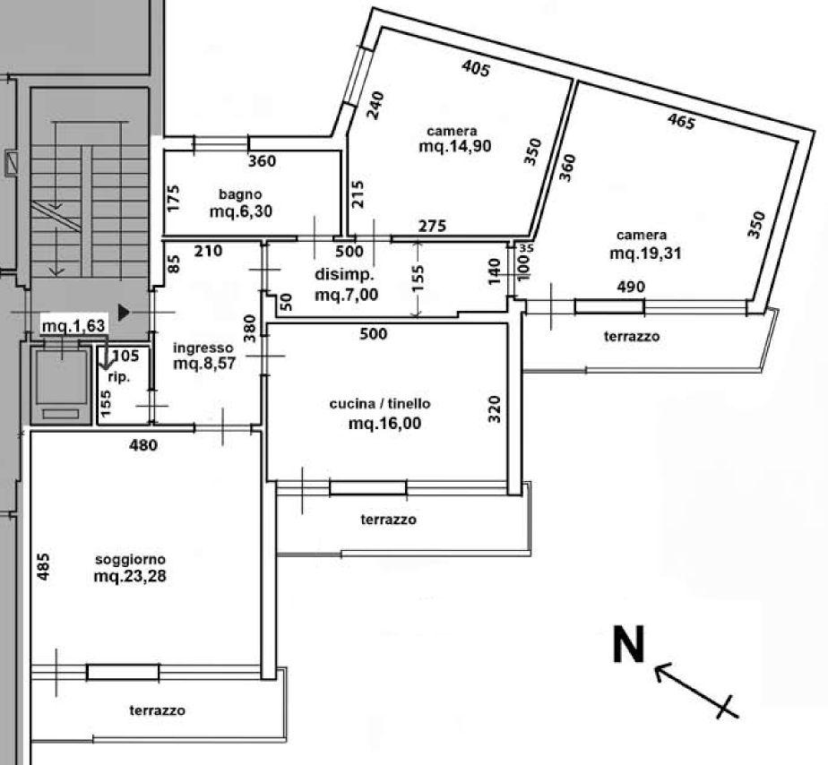 Planimetria 1/2 per rif. 9048