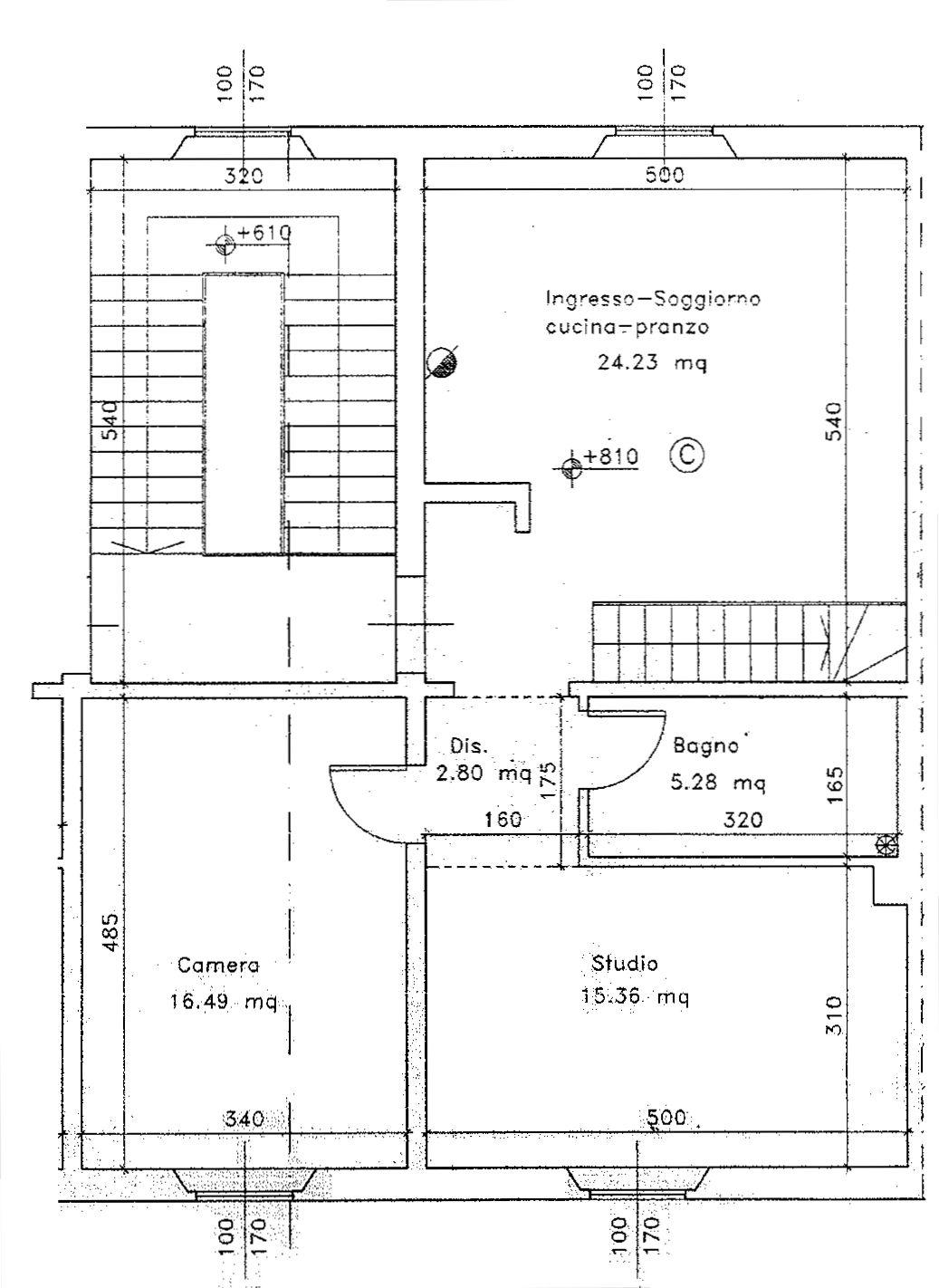 Planimetria 1/2 per rif. 9052