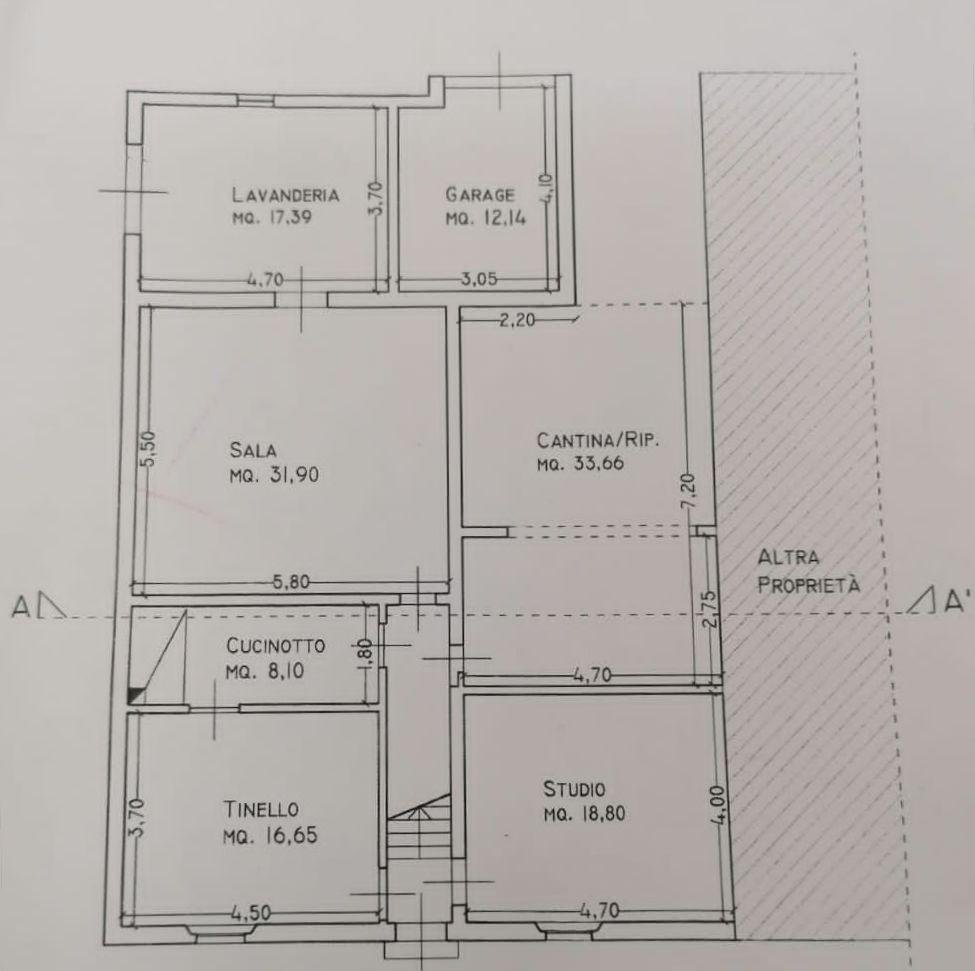 Planimetria 1/4 per rif. 9054