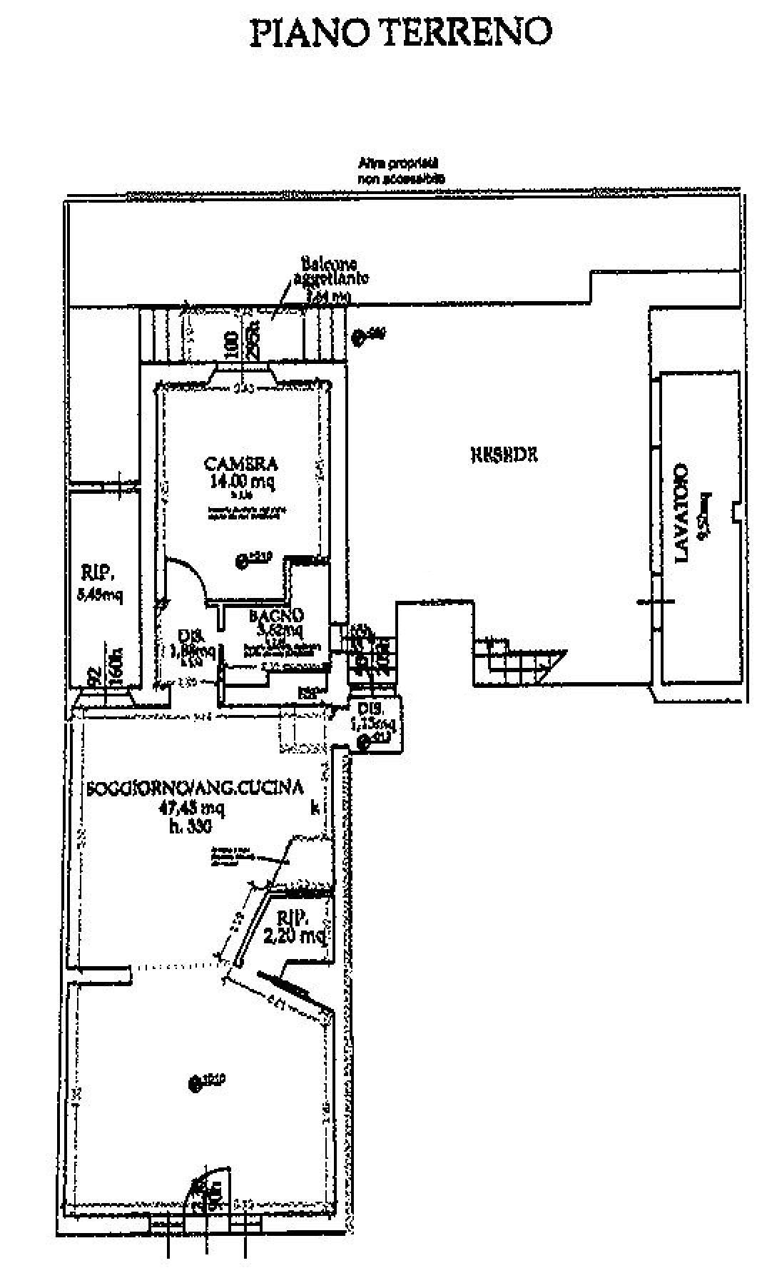 Planimetria 1/2 per rif. 9056