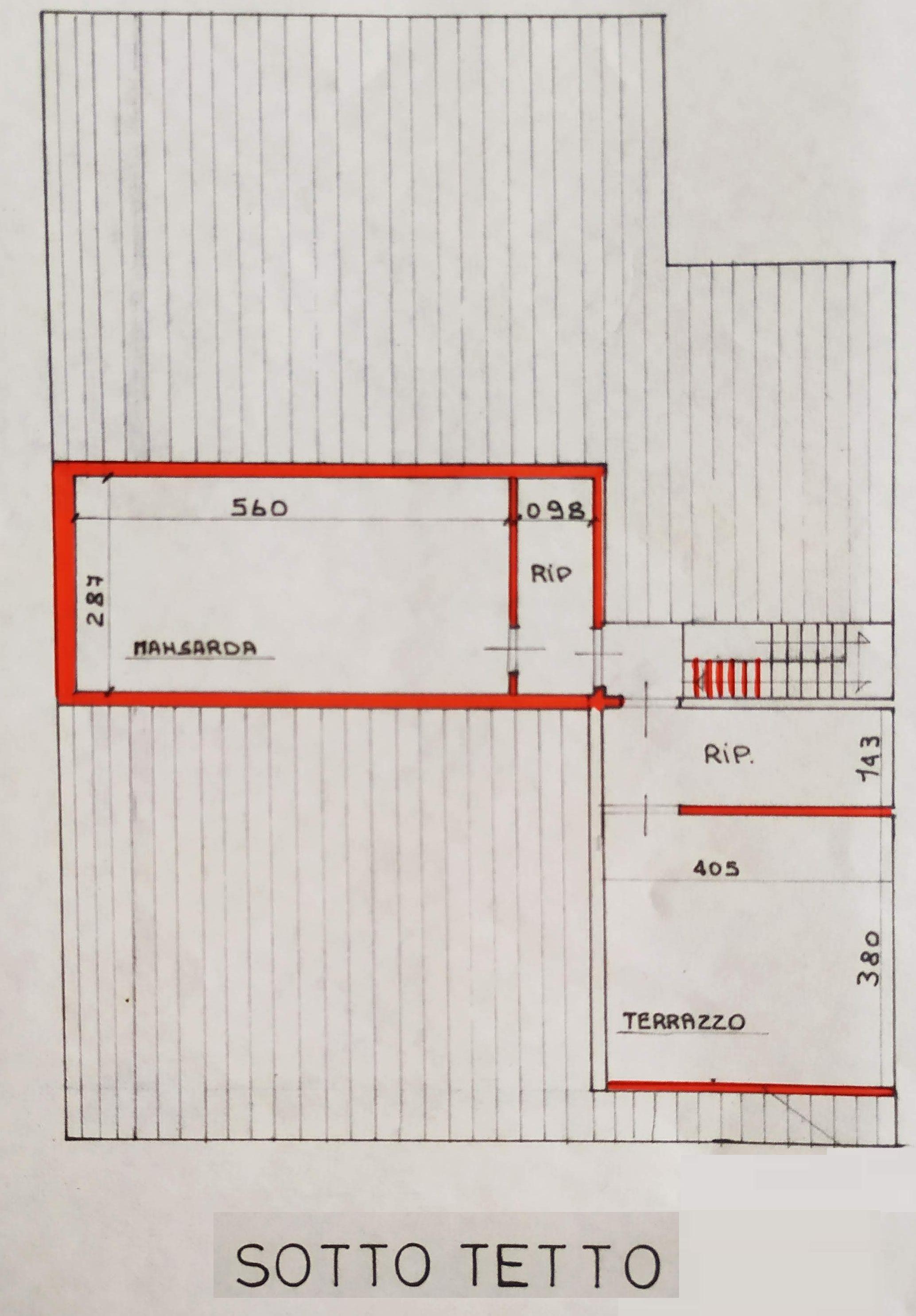 Planimetria 2/2 per rif. 9057