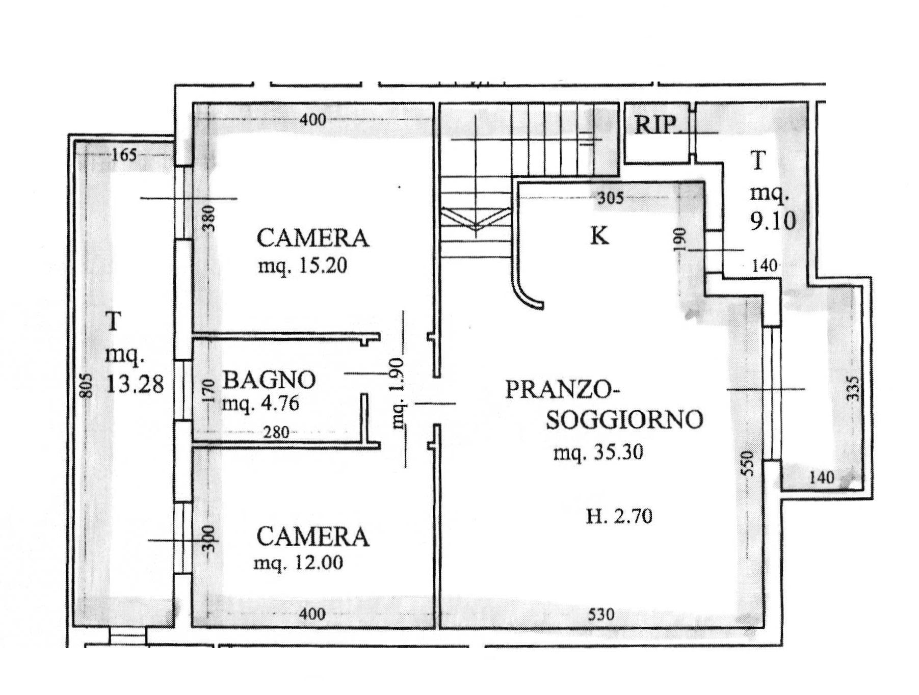 Planimetria 1/2 per rif. 9059