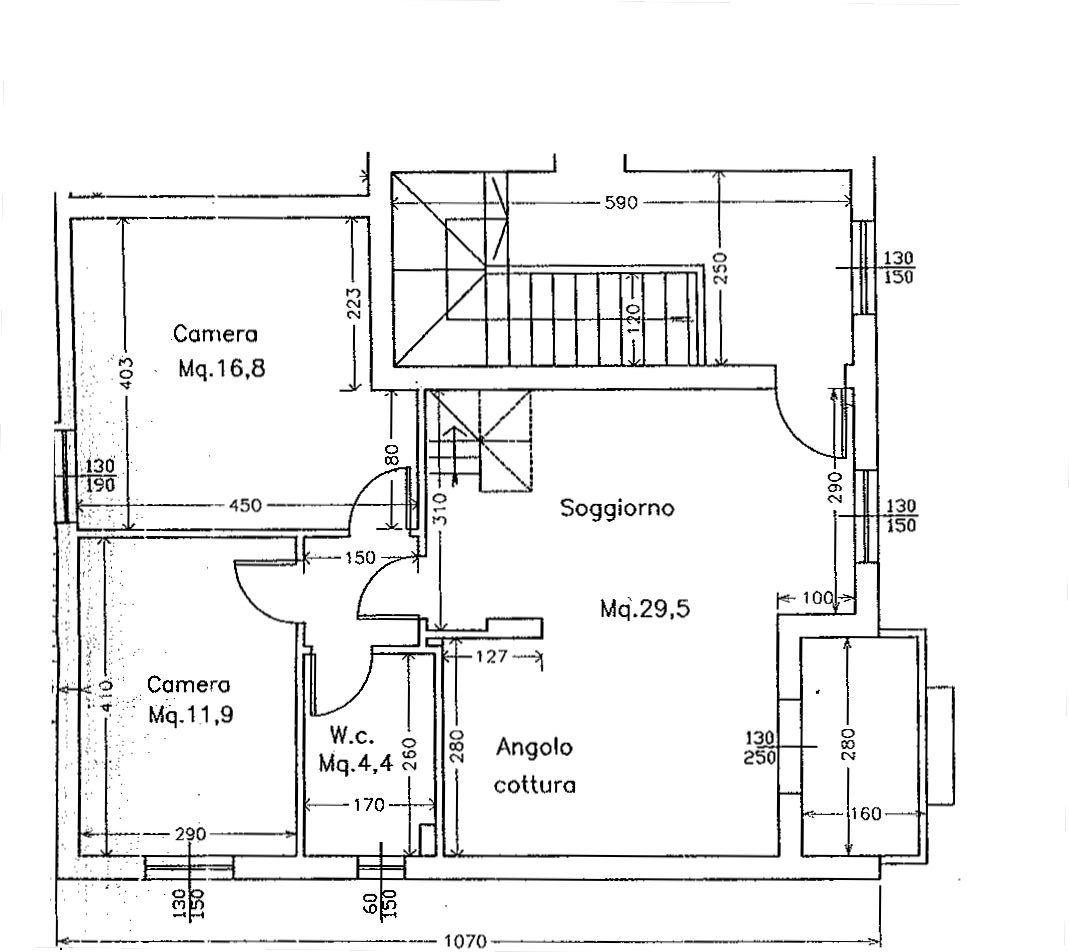 Planimetria 1/3 per rif. 9066