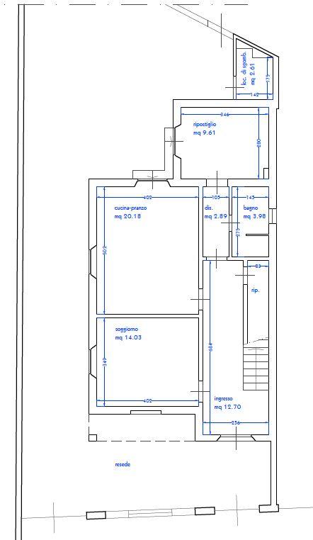 Planimetria 1/3 per rif. 9070