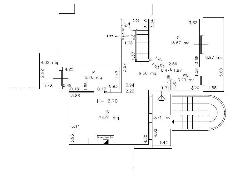 Planimetria 1/6 per rif. 9071