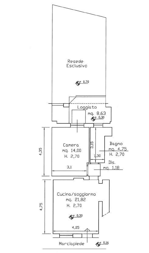 Planimetria 1/1 per rif. 9084