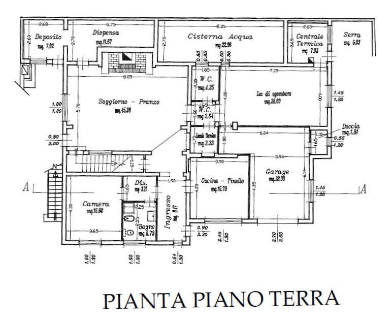 Planimetria 1/5 per rif. 8756-02