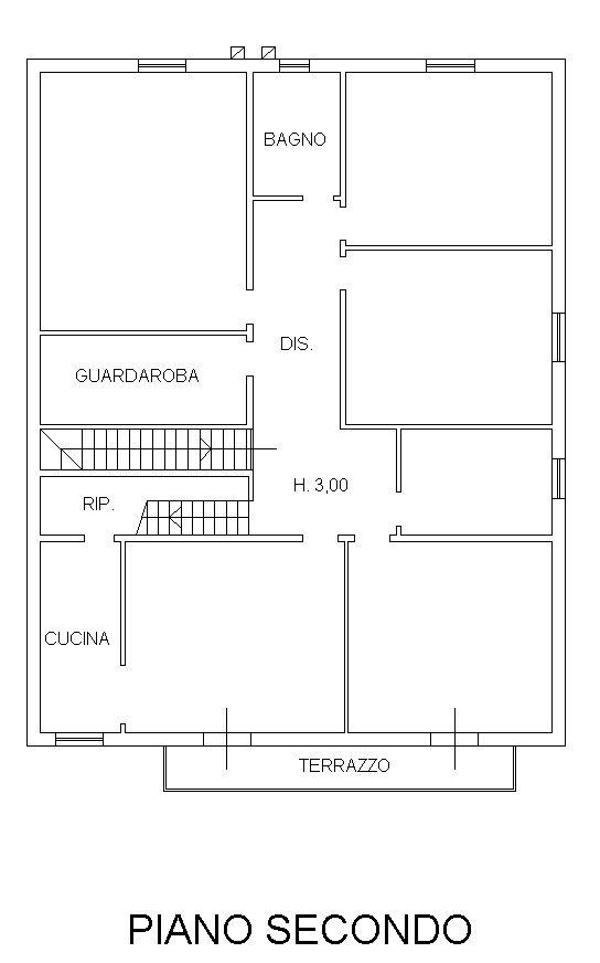 Planimetria 3/4 per rif. 9120-02