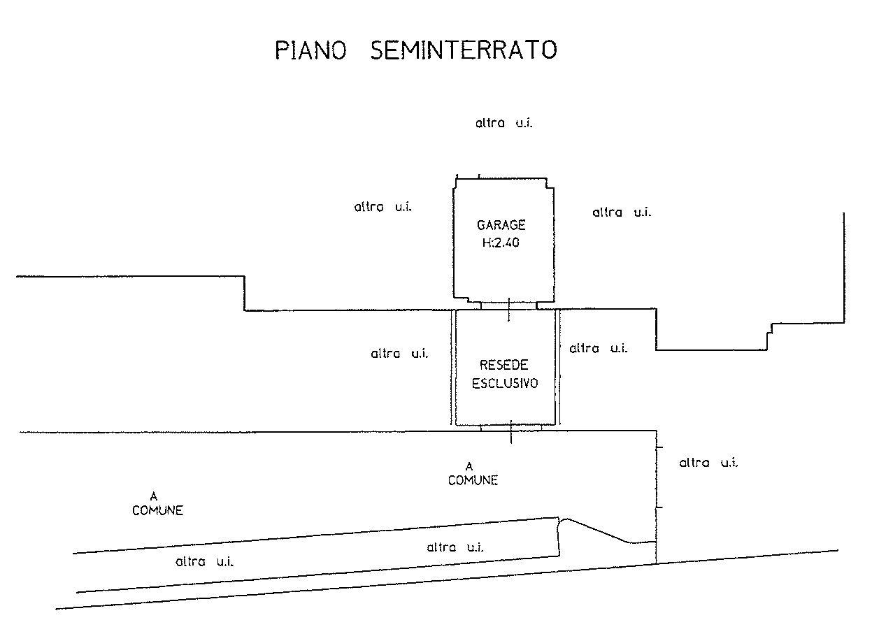 Planimetria 3/4 per rif. 9125