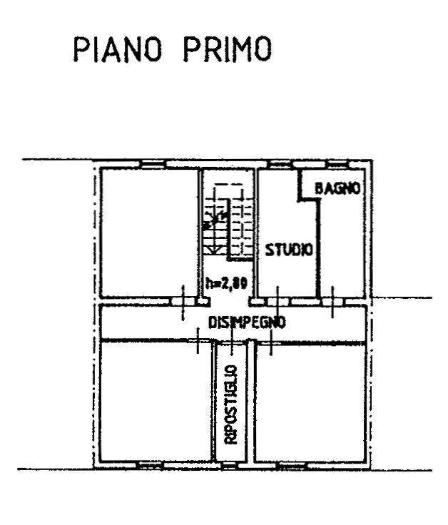 Planimetria 3/4 per rif. 9130