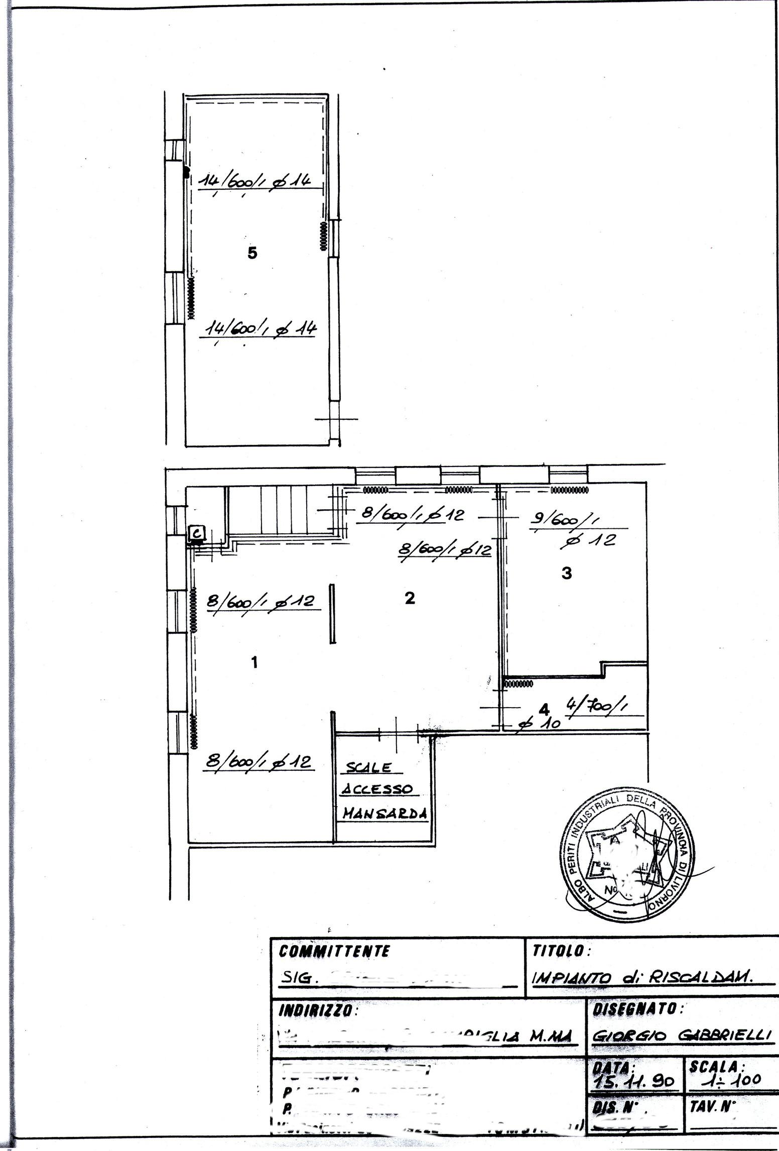 Planimetria /1 per rif. 129
