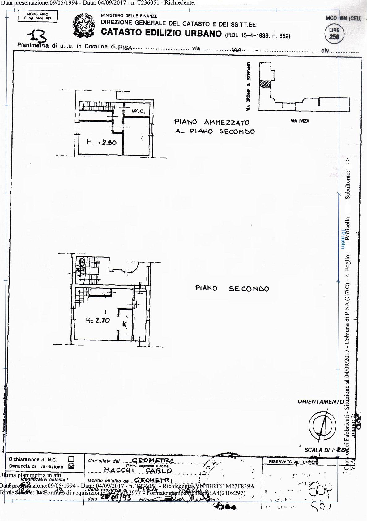 Planimetria /1 per rif. sd4111v