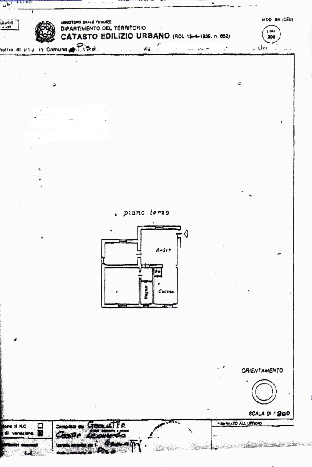 Planimetria /1 per rif. sd4383v