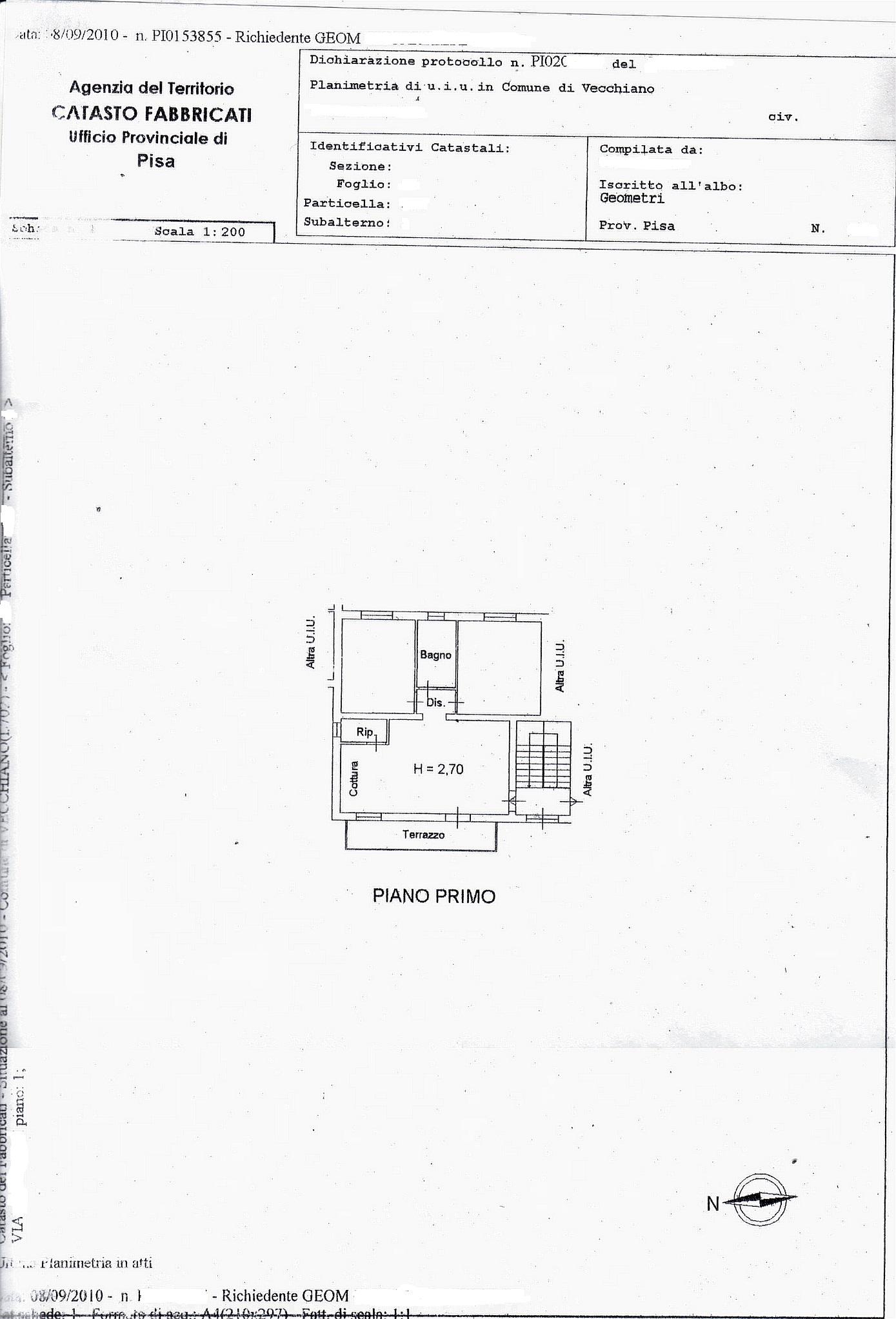 Planimetria /1 per rif. sd4663v