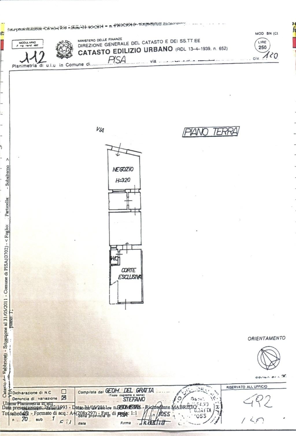 Planimetria /1 per rif. sd5187v