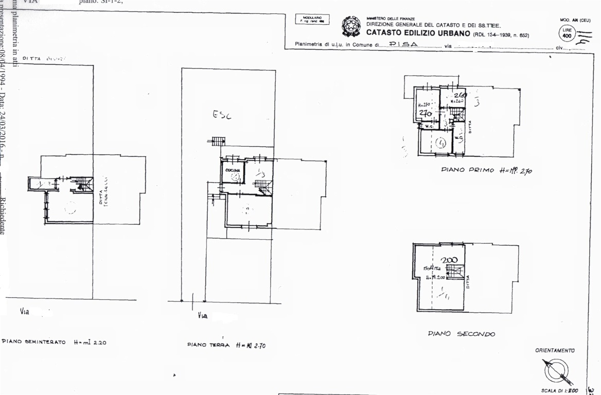 Planimetria /1 per rif. sd4811v